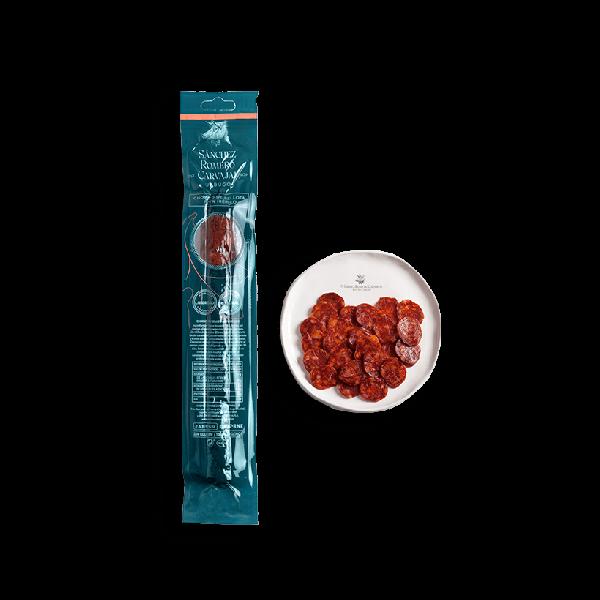Chorizo de bellota 100% ibérica presentación